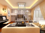 Ultra-luxury living room 3d model