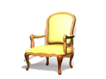Vintage Collectibles true leather chair 3d model